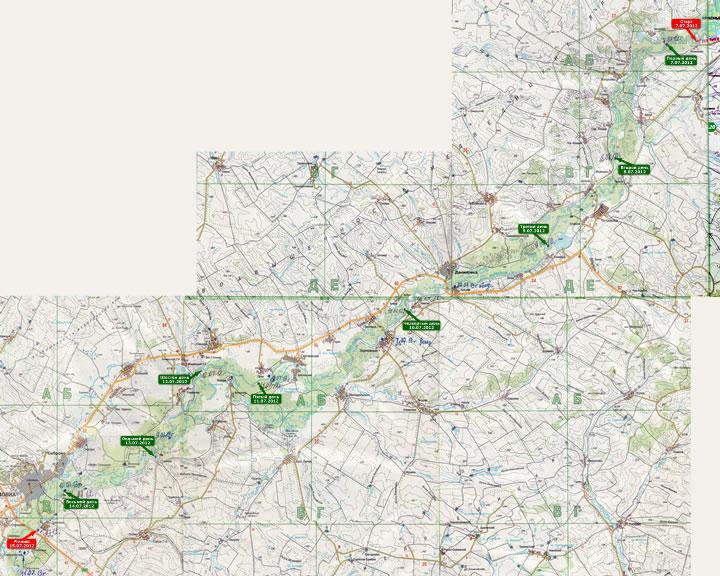 (+) УВЕЛИЧИТЬ карту похода 2012 года