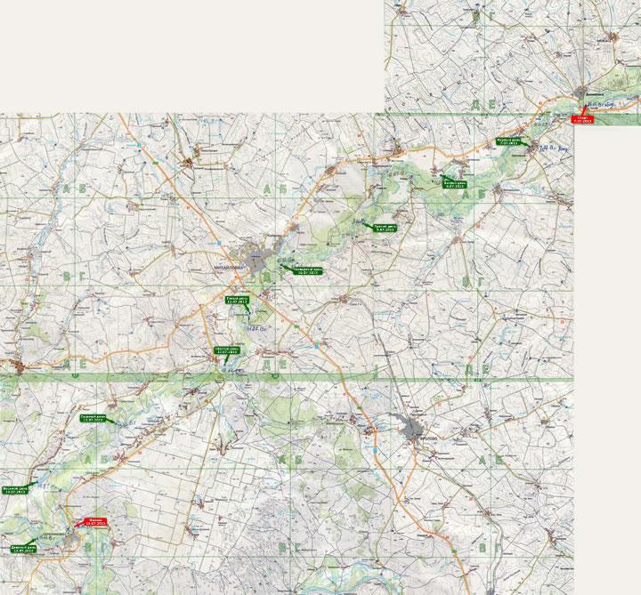 (+) УВЕЛИЧИТЬ карту похода 2013 года