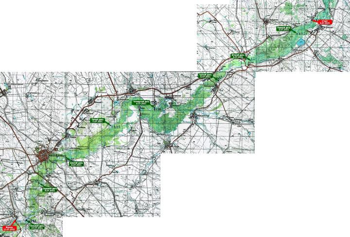 (+) УВЕЛИЧИТЬ карту похода 2021 года